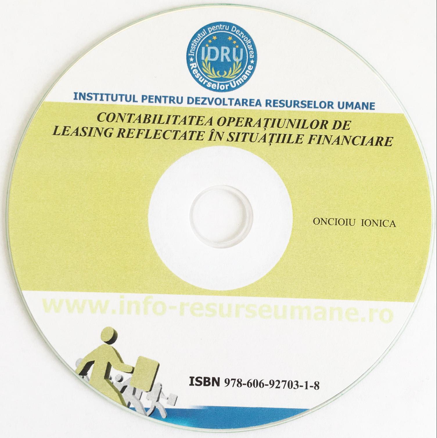 Contabilitatea operatiunilor de leasing reflectate in situatiile financiare