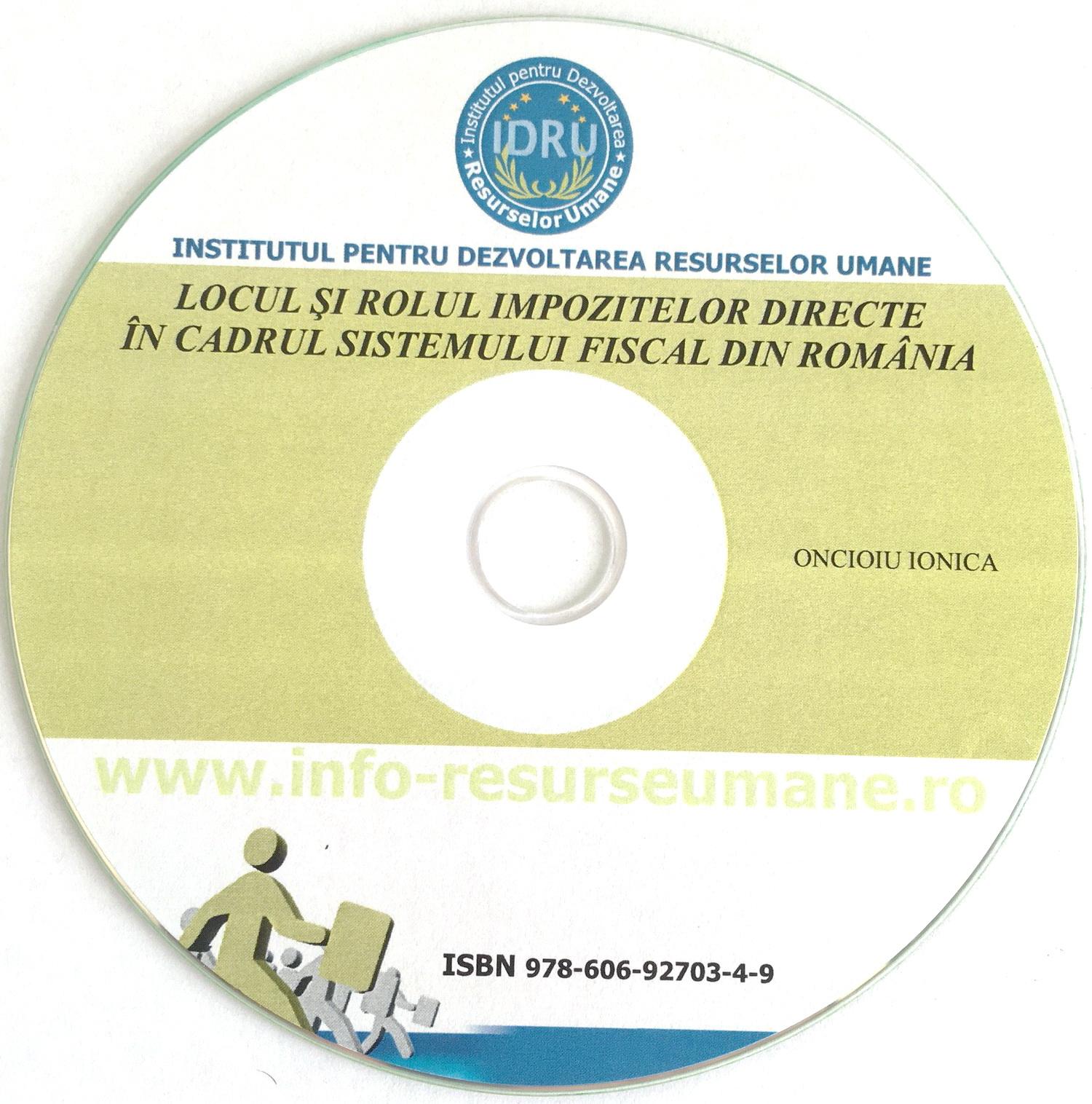 Locul si rolul impozitelor directe in cadrul sistemului fiscal din Romania